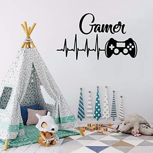Calcomanías de pared controladores de juegos pegatina de pared para sala de juegos videojuego póster de vinilo extraíble decoración de dormitorio para niños Interior DIY 42 * 72cm