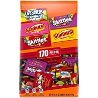 Skittles Starburst And Life Savers Gummies Candy Bag (170 Fun Size Pieces, 63.43 ounce)