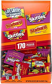 2-Count Skittles Starburst And Life Savers Gummies Candy Bag