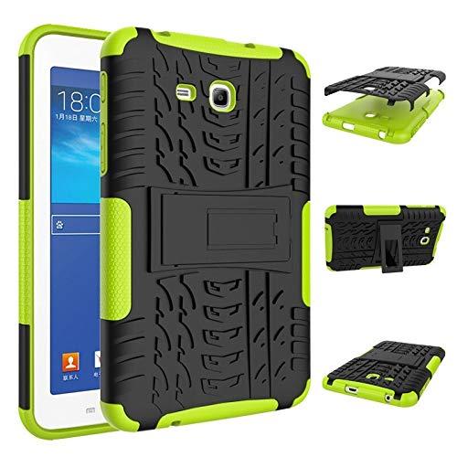 HHF Pad Accesorios para Samsung Tab 3 Lite SM-T110 T111 T113, Caja de la Armadura de la Tableta PC + TPU Remiendo Prueba de Golpes Soporte Dazzle Cubierta para Samsung Tab 3 Lite SM-T110