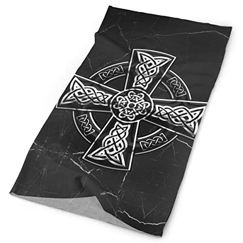 Celtic Cross Scarf Multifunctional Headscarf Outdoor Dustproof Headscarf Black