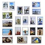 Paquete de 20 Mini Imanes Marco de Fotos | Imanes de Nevera Foto titulares | Accesorios para el hogar personalizados | Idea de regalo de recuerdo de memoria | Pukkr