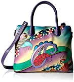 Anna by Anuschka Women's Genuine Leather Large Expandable Tote | Hand Painted Original Artwork | Paisley...