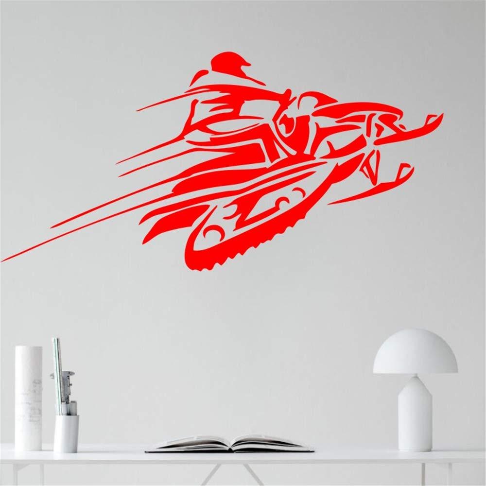 Ajcwhml Snow Car Wall Vinilo calcomanía Etiqueta Carrera de Invierno Deportes Extremos Arte diseño Mural Interior decoración para el hogar Accesorios para el hogar 42X86 CM: Amazon.es: Hogar