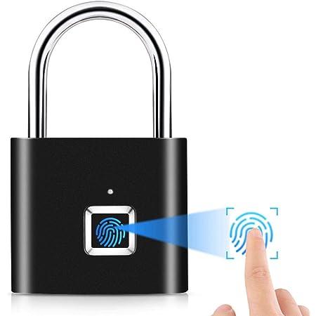 Fingerabdruck Smart Keyless USB Vorhängeschloss Türschloss Fingerprint Lock DE