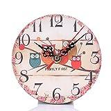 SALLYDREAM Reloj de Pared Silencioso Que No Hace Tictac del Estilo del Vintage para la Oficina de la Cocina Casera (Family First)