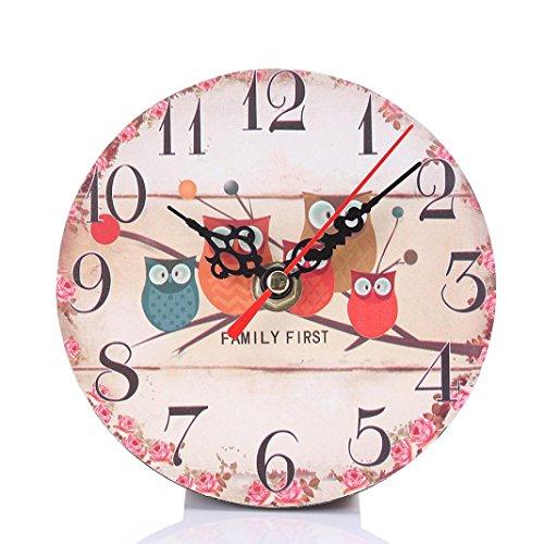 SALLYDREAM Reloj de Pared Silencioso Que No Hace Tictac del Estilo del Vintage...
