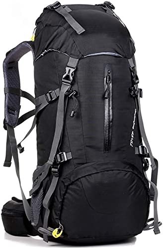 CXJC Sac à Dos De Randonnée 45+5L Pédestre Nylon Water Resistang Randonnée Camping Travel Alpinisme pour Les Voyages Trekking Voyage Sac à Dos,A