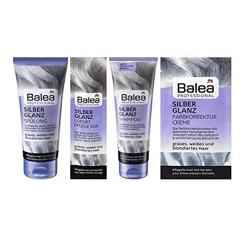 Balea Professional Silberglanz-Set Shampoo 250ml Spülung 200ml Pflege Kur 20ml Farbkorrekturcreme 20ml