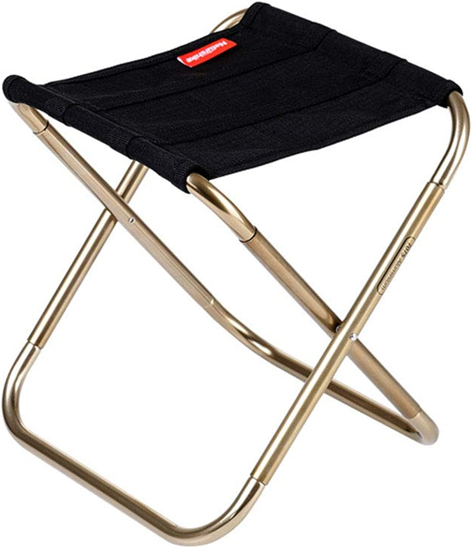 Folding Stool, Folding Stool Portable Outdoor Folding Chair Fishing Art Chair Adult Mini Ultra Light Small Mazar Subway Stool (color   Black)