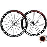 CAMPAGNOLO Bora Ultra 50 - Juego de ruedas para bicicleta de carreras (28' - CA 9-11 Tubular Bright s+Flicks)