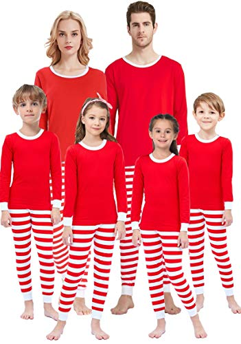 Matching Family Pajamas For Women Men Christmas Boys and Girls Red Striped Jammies Baby Clothes Kids 4t