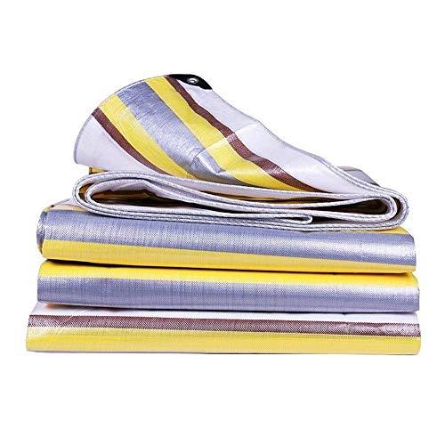 Lona resistente – resistente al agua con ojales para cubrir muebles de jardín, cubierta de techo de camping y mucho más (color: A, tamaño: 2 y veces; 4 M)