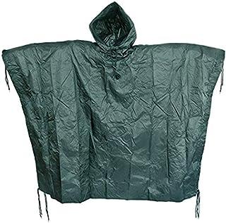 SEAL3 Rain Poncho-Waterproof-Hooded-Heavy Duty PVC...