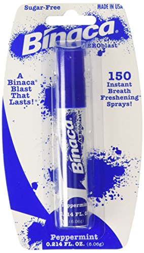 Binaca blast Breath Spray Peppermint flavor (pack of 6)