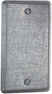 Steel City 58C1 Utility Device Cover, Raised, 4-Inch Length by 2-1/8-Inch Width, Galvanized