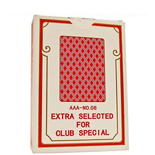 TX GIRL Naipes Papel Ancho Tamaño Poker Anti-Trampa De Póker del Casino For El Blackjack, Euchre, Canasta, Pinochle Juego De Cartas, Casino Grado- 1 Cubierta Tarjetas 88 * 57mm (Size : Red 08)