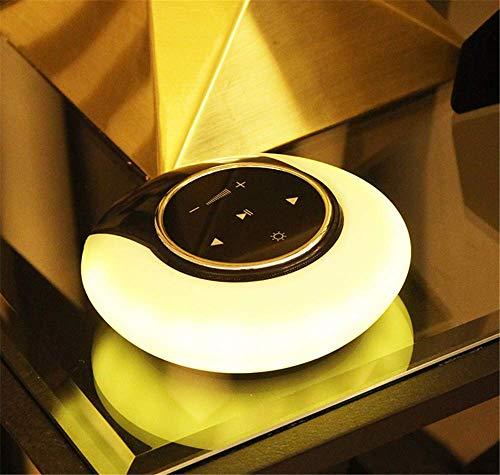 QYL nachtlampje, tafellamp, draadloos, bluetooth, luidspreker, stepless-muziek, subwoofer, licht, romantische decoratie thuis, cadeau