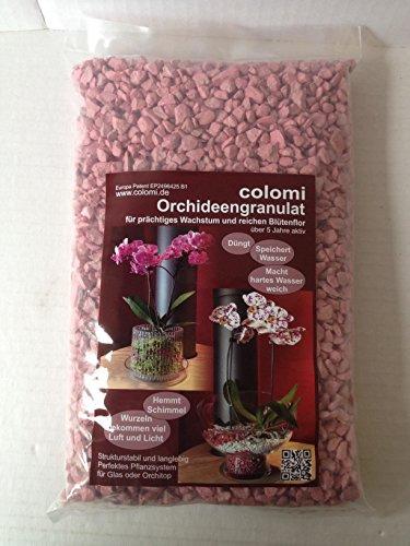 Substrat Colomi Granulés d'orchidée Rose 1 l 4-8 mm