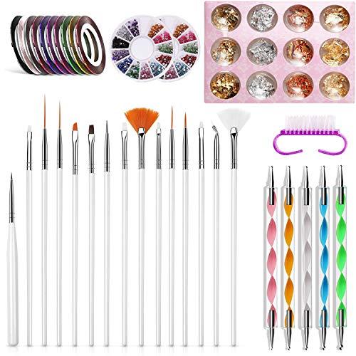15 Sätze Nagelbürsten, Nageln für Nagelwerkzeughaken, spitze Nadeln, UV-Gel- und Acryl-Nagellackfarben, Nagellackbürsten, Nagelzubehör, Nageldesign, Nagelfußpflege
