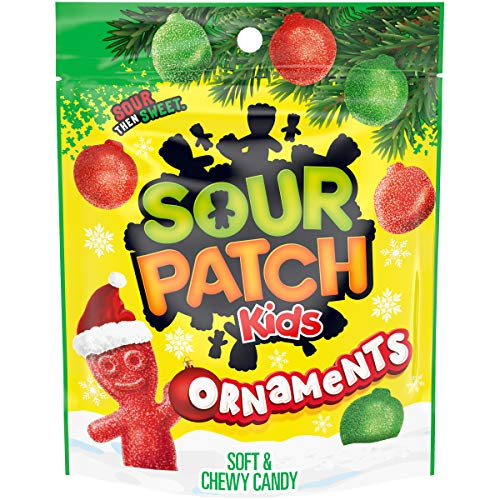 SOUR PATCH KIDS Ornament Holiday Candy, 1 - 10 oz Bag