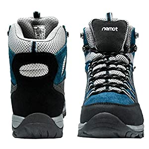 riemot Womens Hiking Boots Waterproof Lightweight Outdoor Trail Walking Boots Blue 7