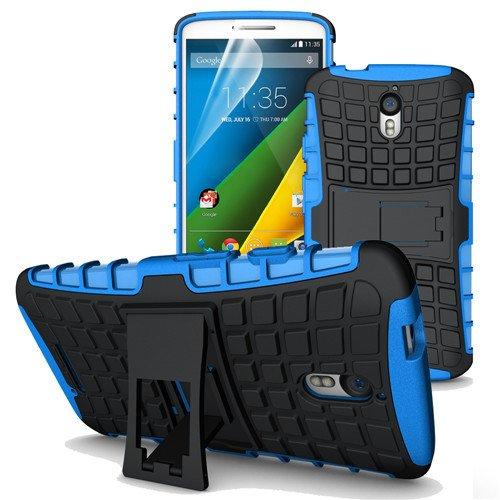 betterfon | Outdoor Handy Tasche Hybrid Case Schutz Hülle Panzer TPU Silikon Hard Cover Bumper für Motorola Moto X Force Blau