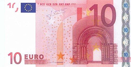 Litfax GmbH 10 € Euroschein / Euro-Geldscheine ca. 163 x 85 mm / banderoliert, je Pack. 75 Stück