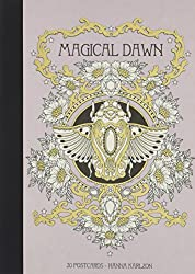 magical dawn coloring postcards