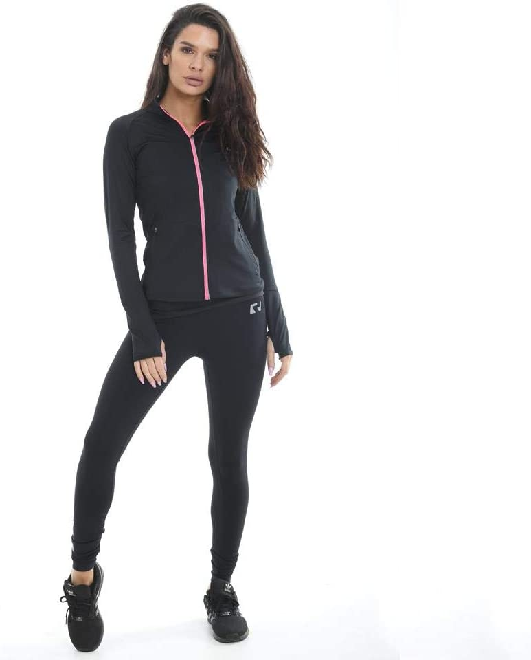 RIPT Performance Ladies Workout Training Top Zip Up Quick Dry Thumb Hole Long Sleeve Gym Jacket