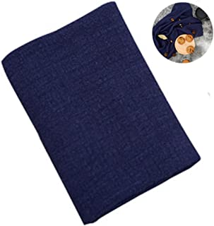 Selens Cotton Linen Napkin 17x26inch (45x65cm) for Flat Lay Food Styling Rustic Photography Kitchen Tea Towel Dining Place Mats,Photo Props for Instagram (Navy Blue)