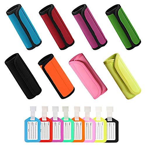 16 piezas de agarraderas para manijas de equipaje+etiquetas de identificación de plástico,...