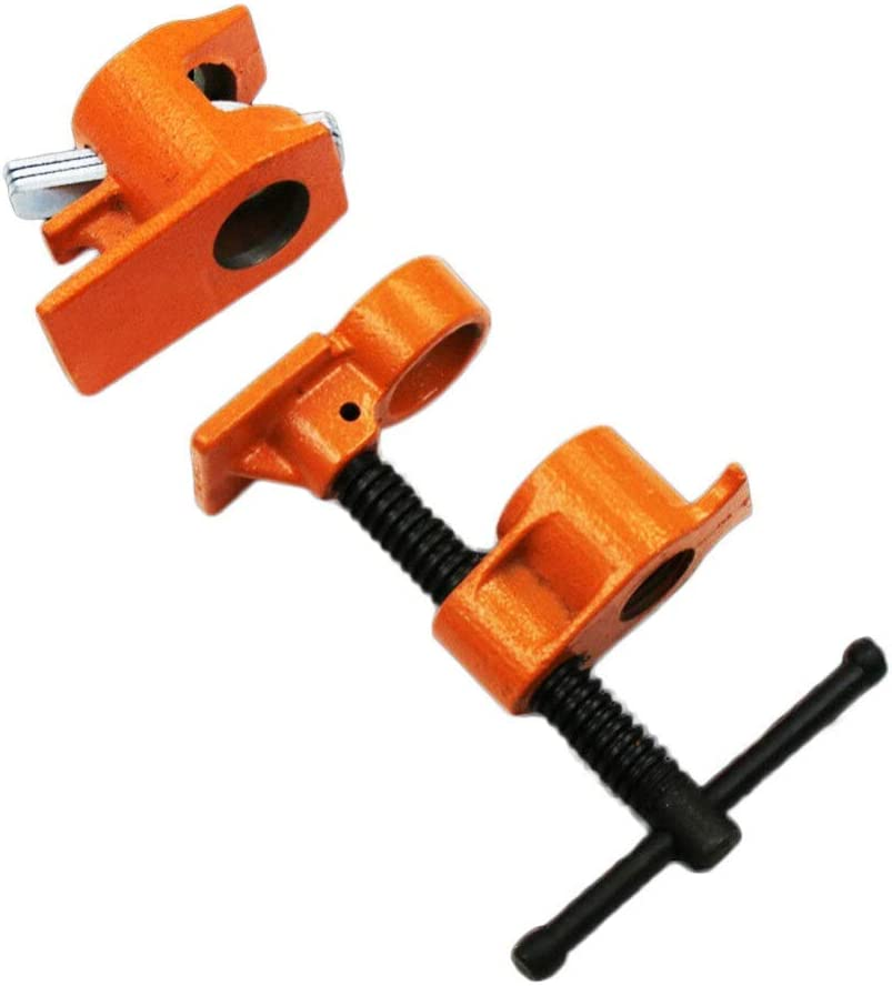 Limited time cheap sale YXZQ Woodworking Aids 1 2Inch Heavy Woodwo Clamp Pipe Duty Steel Popularity