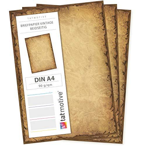 Altes Vintage Brief-Papier Casanova 75 Blatt DIN A4 90g/m² von Tatmotive