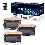 3 Pack Black TN-820 Toner Cartridge Replacement for Brother DCP-L5500DN L5600DN L5650DN MFC-L6700DW MFC-L6750DW L5700DW L5800DW L5900DW L6900DW HL-L6200DW/DWT L6250DW L6400DW/DWT L5000D Printer