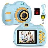 RAYROW Kinderkamera - Digitalkamera für Kinder mit 2,5 Zoll Bildschirm 1080P HD 18MP Eingebaute 32 GB TF Karte USB Akku für Mädchen Jungen Geburtstagsgeschenke (Blau)