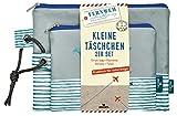 moses. Fernweh Täschchen Bon Voyage 2er Set | 2 Kosmetiktaschen für die Reise | Für...