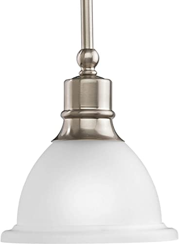 popular Progress Lighting P5078-09 Madison Pendants, new arrival 7-1/2-Inch Diameter x 8-Inch Height, lowest Brushed Nickel outlet online sale