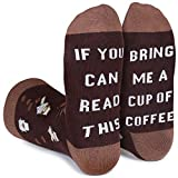 Leotruny If You Can Read This Have Me - Calcetines divertidos para hombre y mujer, Coffee, Talla única