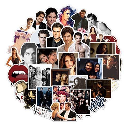 BLOUR 10/50 Uds Serie de TV de fantasía The Vampire Diaries Pegatinas para Equipaje de Juguete portátil monopatín álbum de Recortes Pegatina para teléfono móvil