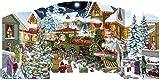 Calendario dell'Avvento autoportante con Babbo Natale