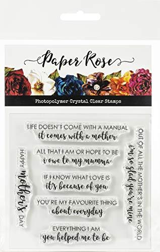 PAPER ROSE -3PL 17976 Transparente Stempel, Muttertags-Zitate, Einheitsgröße