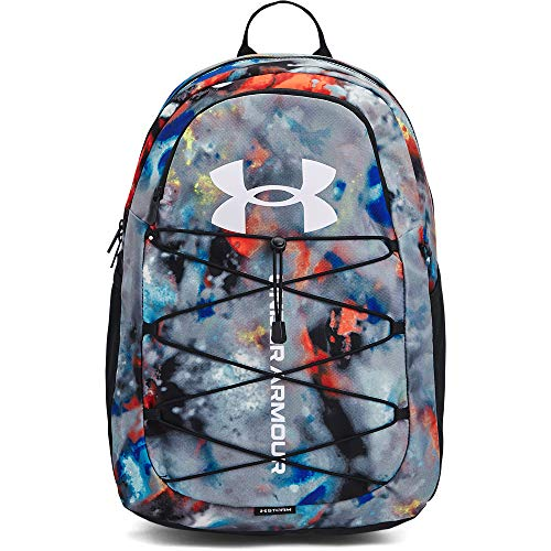 Under Armour Adult Hustle Sport Backpack , Black (005)/White , One Size Fits All