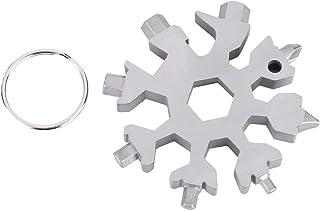 llavero abridor de botellas llave de anillo bicicleta de acero inoxidable destornillador port/átil multifuncional para montar aventuras al aire libre 2 piezas de 18 en 1 llave de nieve multifuncional