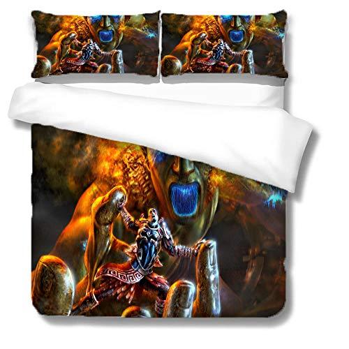 BRFNC Juego de Ropa de Cama,Monstruo de Hulk de Dibujos Animados Super Suave y cómodo con Estampado 3D,Microfibra Hipoalergénica,Juego de Fundas Nórdicas...