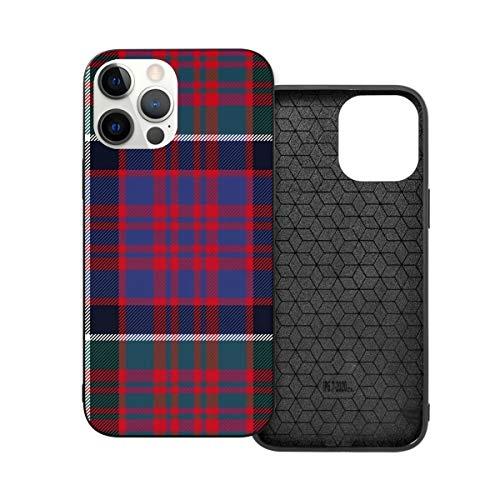 Funda de protección compatible con iPhone 12 / iPhone 12 Pro Macdonald Of Clan Ranald Rojo Tartan Funda de silicona suave TPU