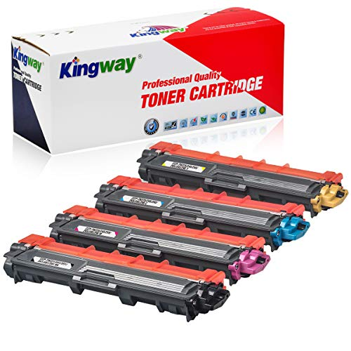 Kingway TN241 TN245 Toner Ersatz für Brother TN-241 TN-245 TN-242 TN-246 für Brother MFC-9332CDW DCP-9022CDW HL-3142CW MFC-9142CDN HL-3152CDW MFC-9140CDN DCP-9017CDW HL-3140CW(4 Packung)