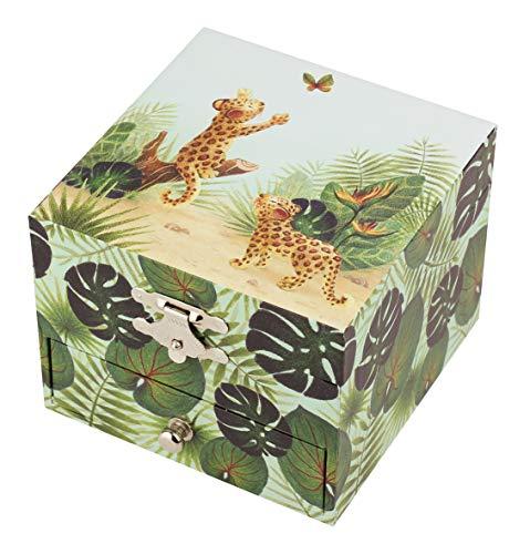Trousselier - Savanne - Schatzkiste & Musikschmuckdose - Spieluhr - Ideales Kindergeschenk - Musik Tschaikowskys Dornröschen - Farbe grün