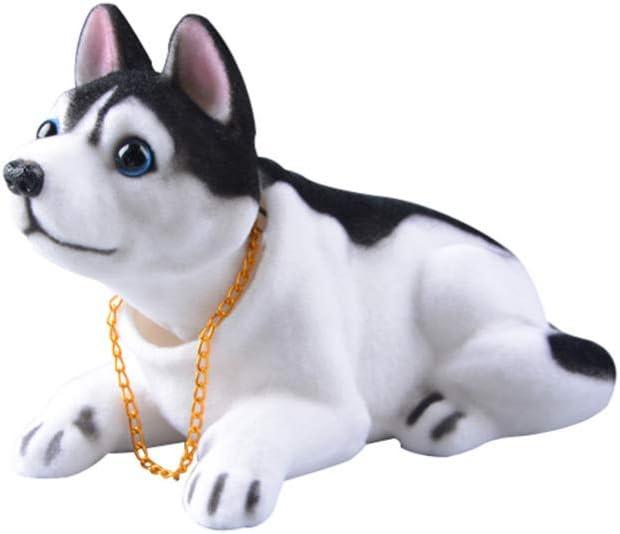 Wakauto Bobblehead Dolls Shaking Head Dog Desktop Ornament Gift for Home Shop Car Dashboard Decor