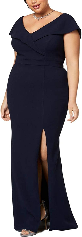 Xscape Womens Plus OffTheShoulder Sheath Formal Dress